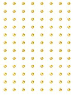Crafts Too: zelfklevende stenen 96 pcs, 3 mm, Gold-Yellow