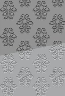 Couture Creations: Embossing folder; Satine