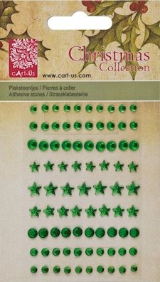 cArt-us: Christmas collection; Plakstenen facet rond, Green