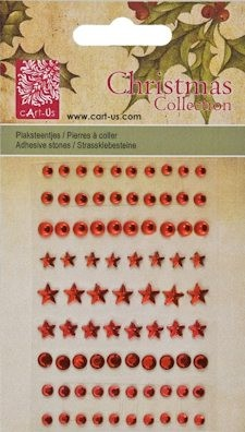 cArt-us: Christmas collection; Plakstenen facet rond, Red