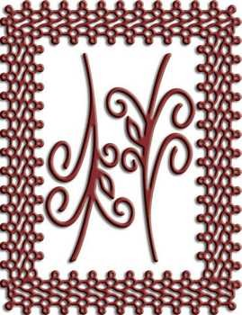 CLD: Doily mal Japanese Lace and Flourish Frame