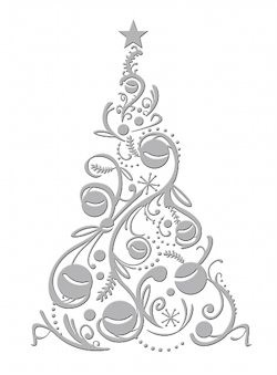 CC: Embossing Folder; Bauble Tree