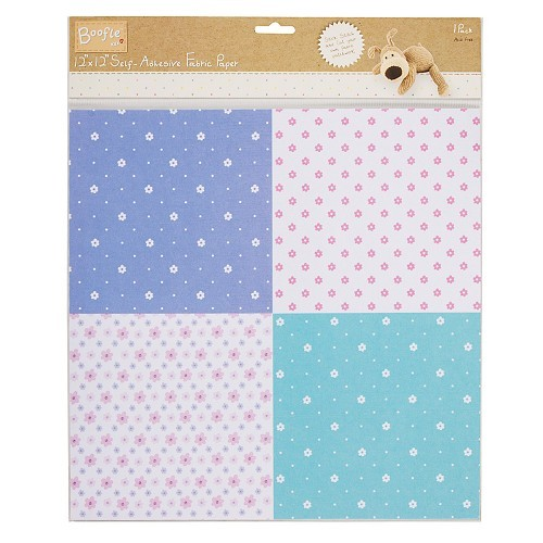 12x12 S/A Fabric Paper - Boofle™ (Quad Gingham)