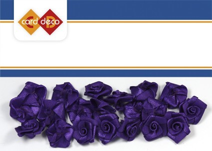 Carddeco: Flowers 15 mm 20 pcs; Paars