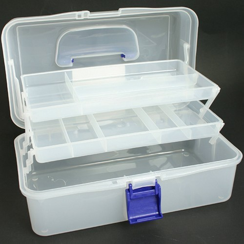 Clear Caddy (Blue Handle + Catch
